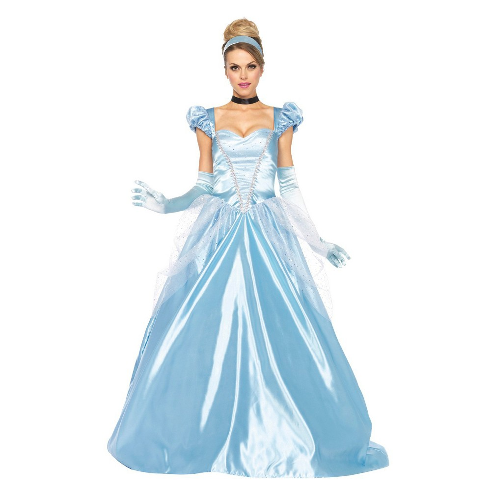 Image of Halloween Disney Women's Cinderella Classic 3 Pc Costume - Small, Blue