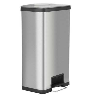 halo quality 18gal AirStep Feather Light Stainless Steel Step Trash Can