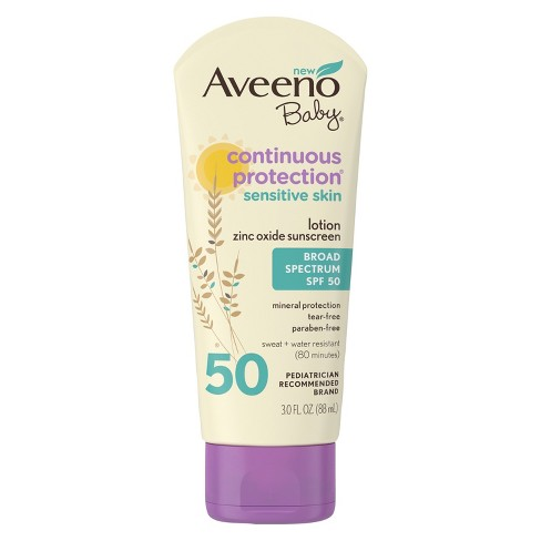 Aveeno Baby Continuous Protection Zinc Oxide Mineral Sunscreen - SPF 50 - image 1 of 7