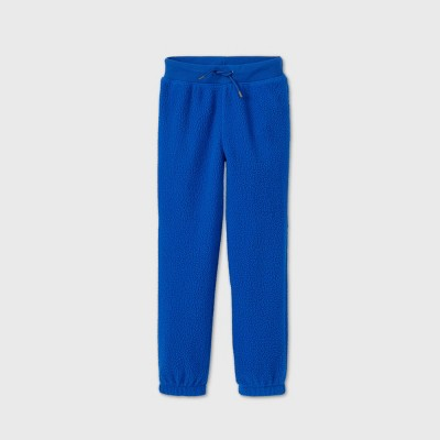 Boys' Cozy Sherpa Jogger Pants - Cat & Jack™ Blue