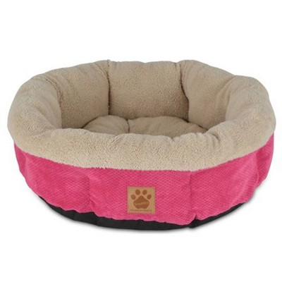 Petmate Precision Pet SnooZZy Mod Chic Stylish Round Cuddler Pet Dog Bed, Pink