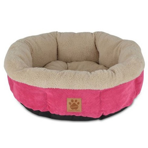 Petmate Precision Pet SnooZZy Mod Chic Stylish Round Cuddler Pet Dog Bed, Pink - image 1 of 2