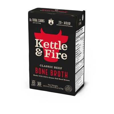 Kettle & Fire Beef Bone Broth - 16.9oz