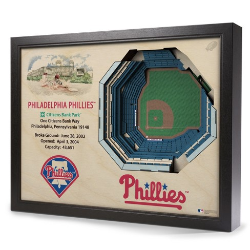 MLB Philadelphia Phillies 25 Layer Stadiumviews 3D Wall Art - image 1 of 4