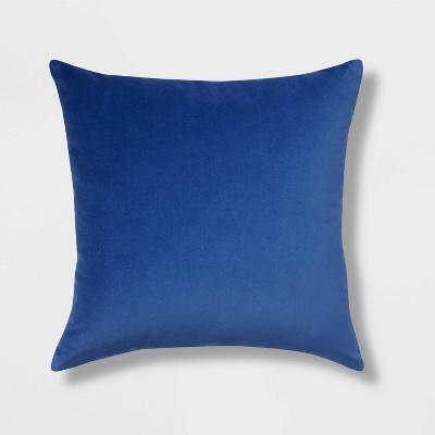 Cotton Velvet Square Throw Pillow Blue - Room Essentials™