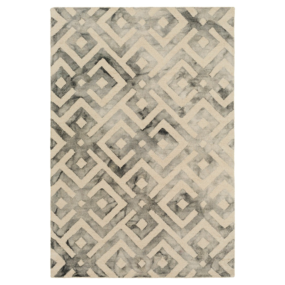 Cream (Ivory) Abstract Hooked Area Rug - (6'X9') - Surya