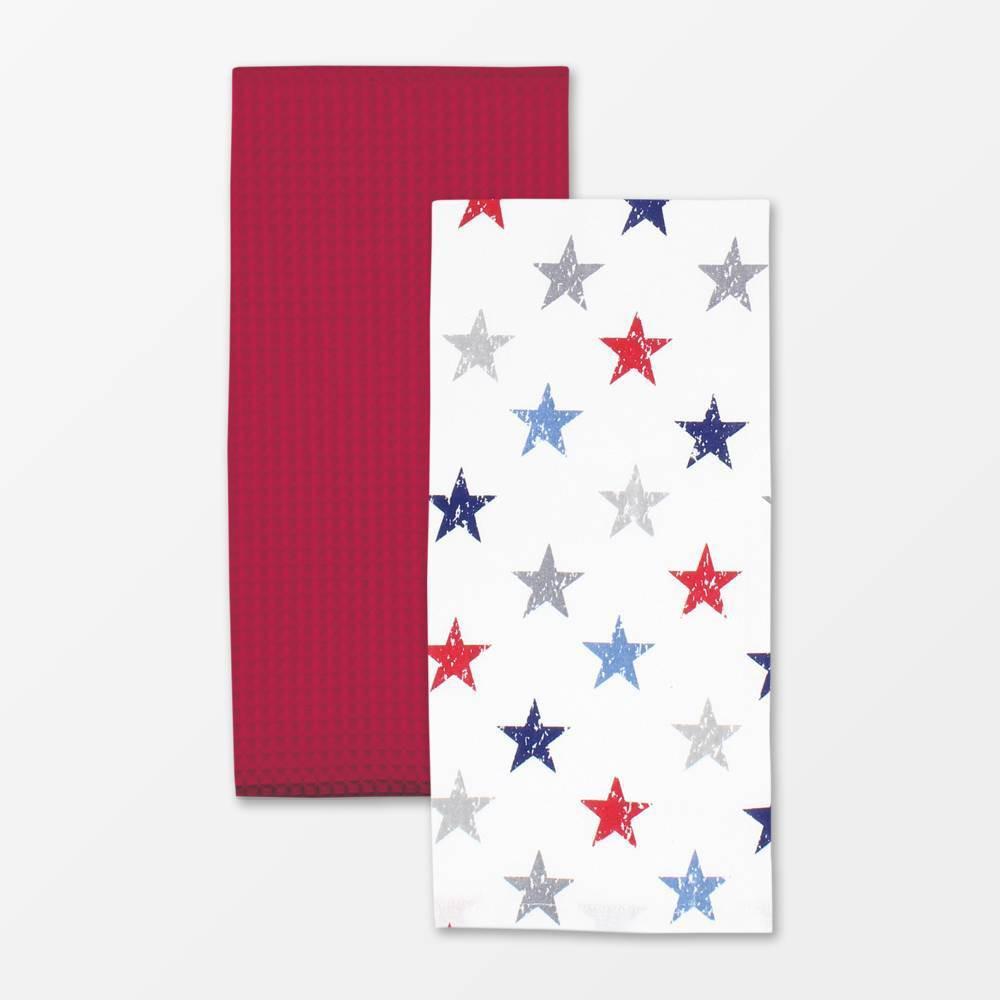 Set of 2 Designer Stars Print Towel MU Kitchen