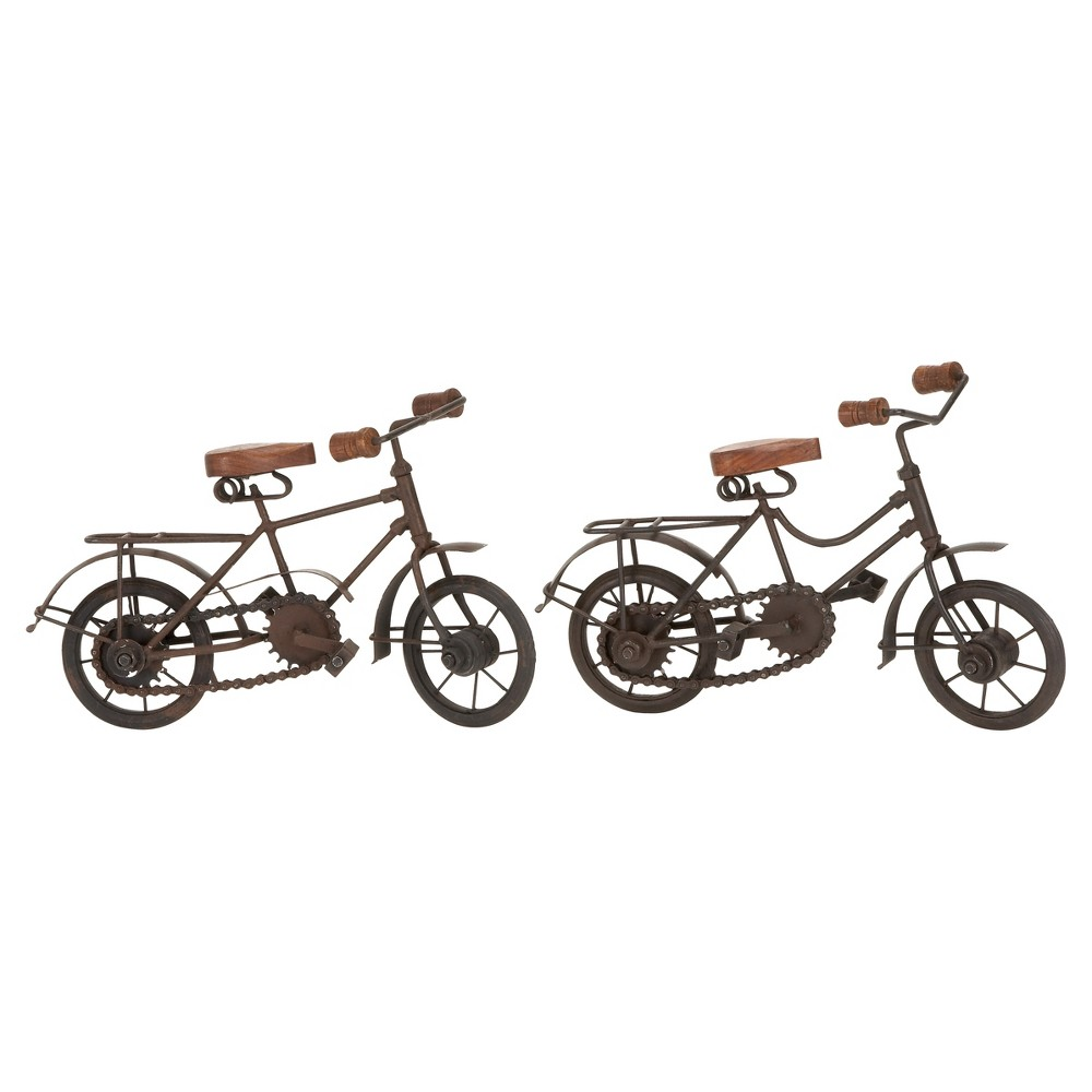 Vintage Reflections Roadster Model Bicycles (11) 2ct - Olivia & May, Multi-Colored