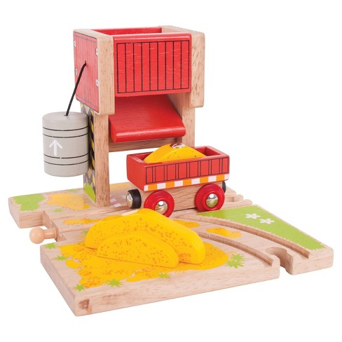 Bigjigs Rail Sand Tower Wooden Railway Train Set Accessory - image 1 of 2