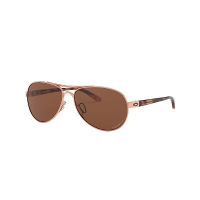 Oakley OO4108 56mm Tie Breaker Female Pilot Sunglasses Polarized