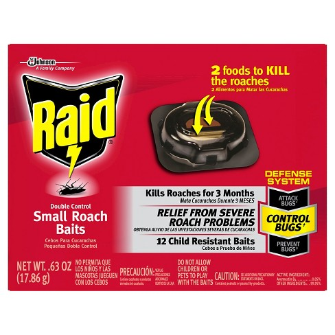 Raid Double Control Small Roach Baits, 12ct - image 1 of 3