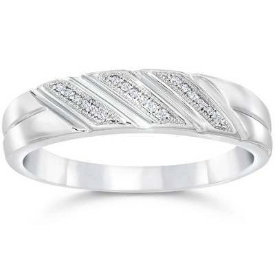 Pompeii3 1/5ct Mens Diamond Ring 10K White Gold