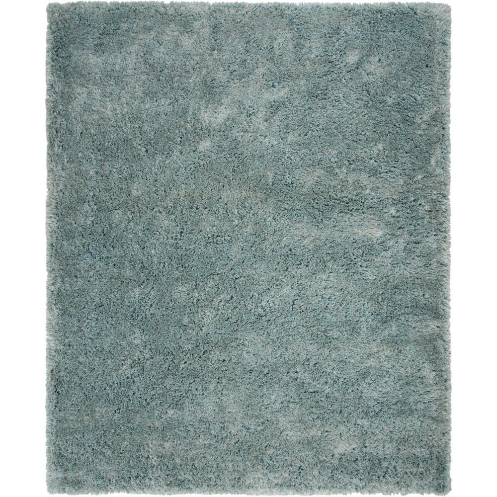 8'X10' Solid Tufted Area Rug Blue/Light Gray - Safavieh