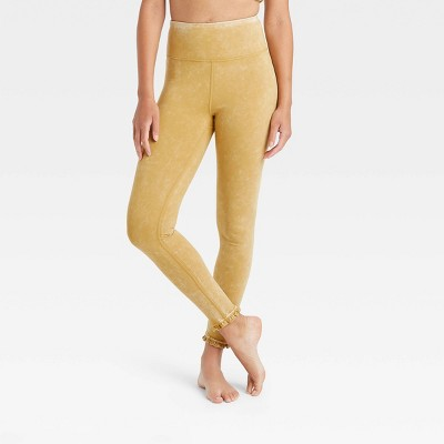 Women's High-Waisted 7/8 Leggings with Ruffle Hem - JoyLab™