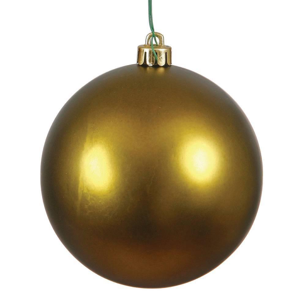 Vickerman 2.4/24ct Matte Ball Ornament UV Coated Olive