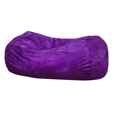 Skylar 4' Bean Bag Chair - Violet - Christopher Knight Home