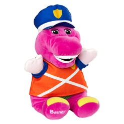 """Fisher-Price Barney & Friends Police Hat & 12"""" Plush Doll"""
