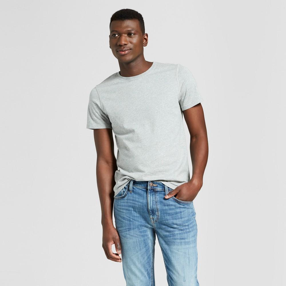 Men's Standard Fit Short Sleeve Sensory Friendly Crew T-Shirt - Goodfellow & Co Gray M