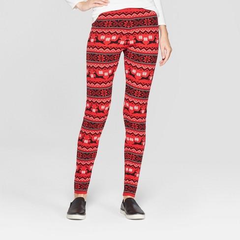 womens christmas reindeer sweater leggings 33 degrees red
