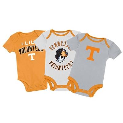 NCAA Tennessee Volunteers Baby Boys' 3pk Bodysuit Set