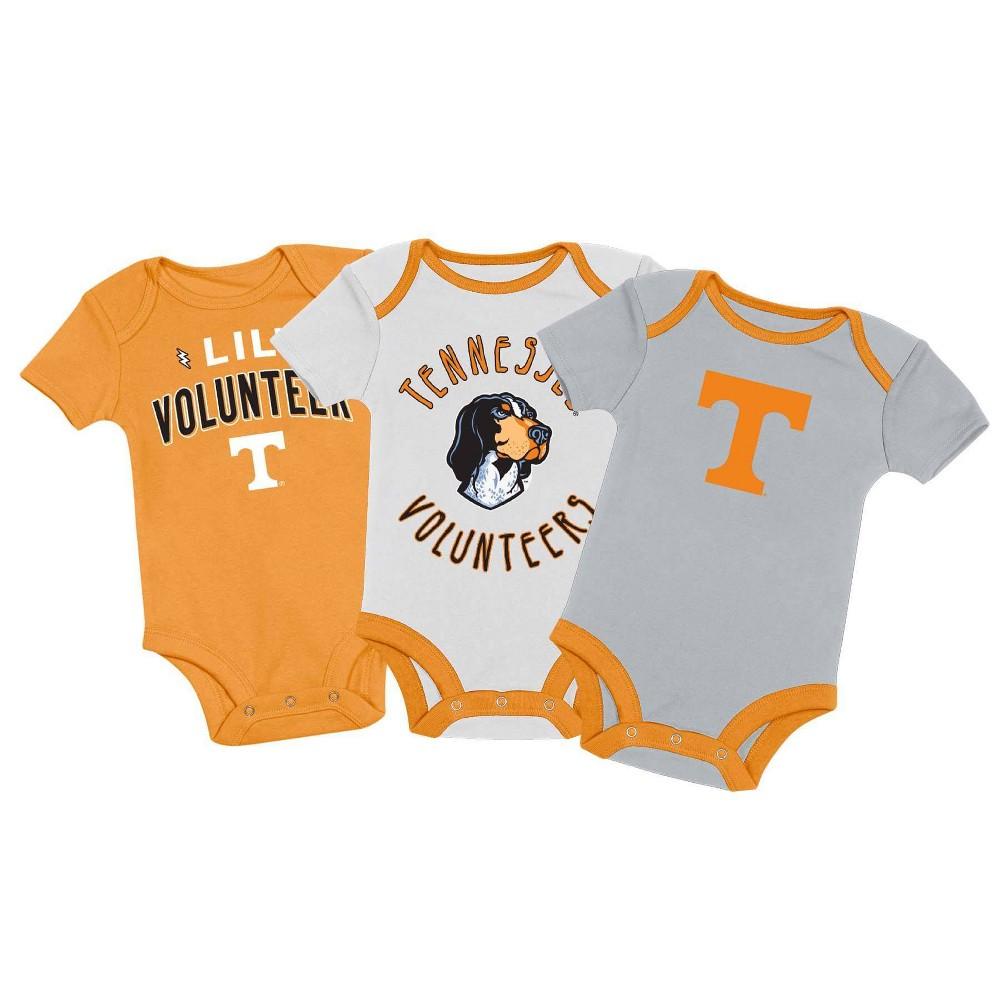 Ncaa Tennessee Volunteers Baby Boys 39 3pk Bodysuit Set 0 3m
