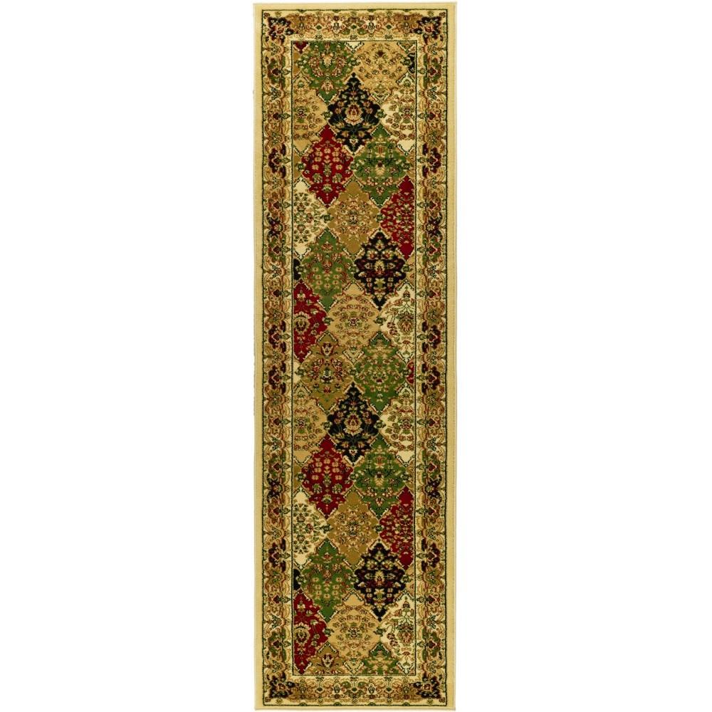 23X14 Loomed Floral Runner Rug Ivory/Dark Green - Safavieh Price