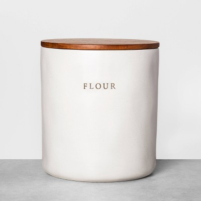 Flour Stoneware Canister with Wood Lid - Hearth & Hand™ with Magnolia