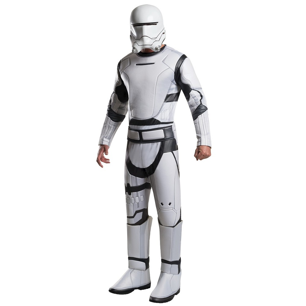 Star Wars Deluxe Villain Flametrooper Adult Costume- XL, Adult Unisex, Multicolored