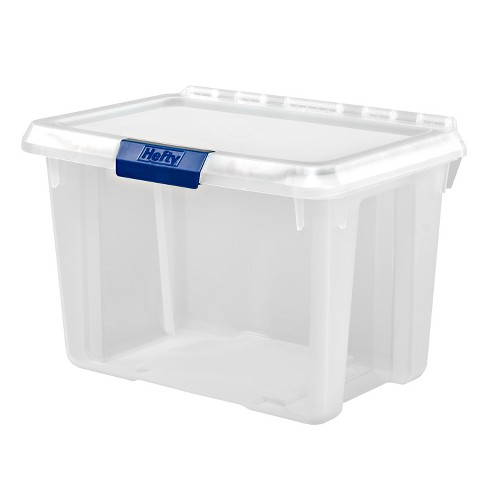 20qt Hinged Lind Tote Clear - Hefty - image 1 of 4