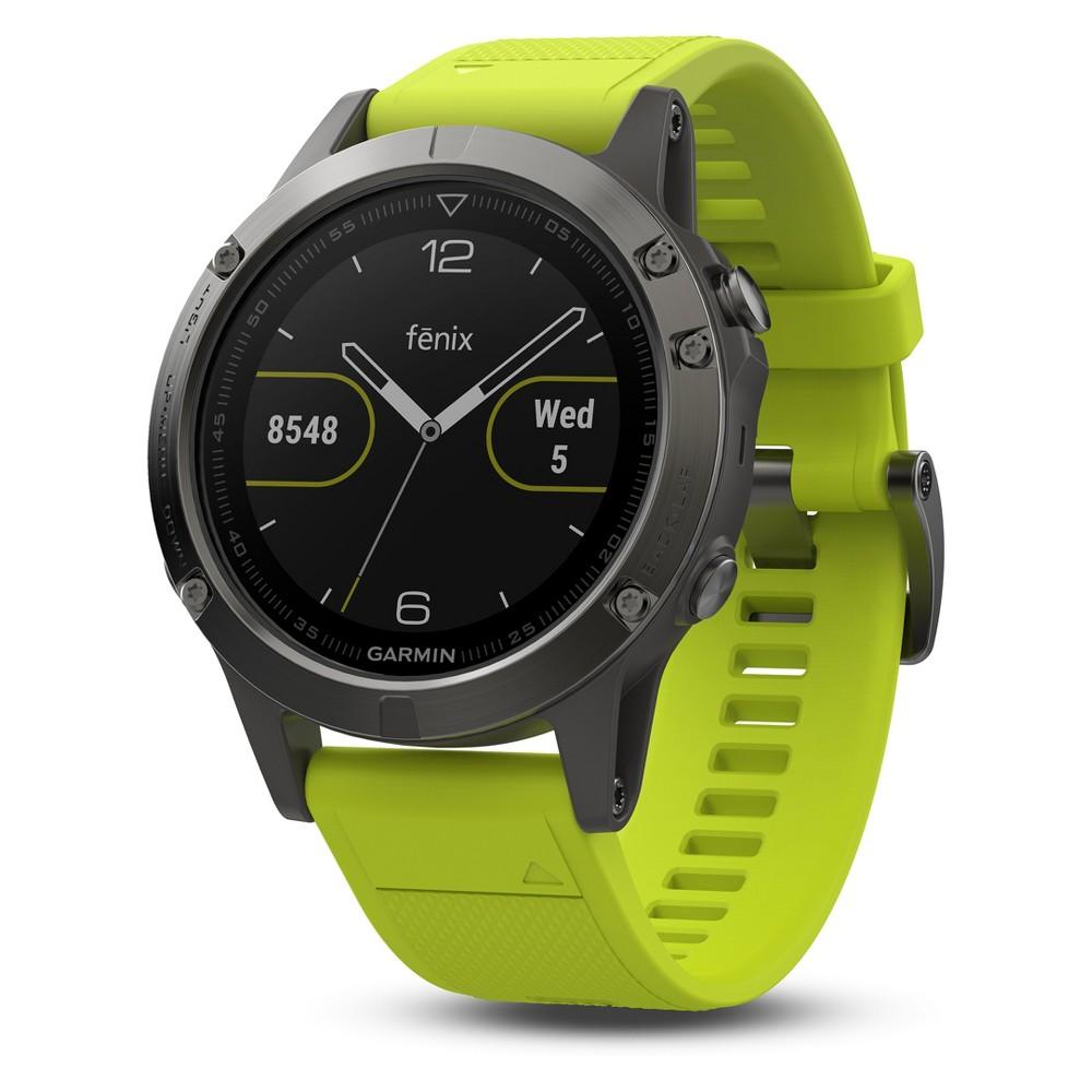 Garmin Fenix 5 Slate Gray Gps Watch with Yellow Band