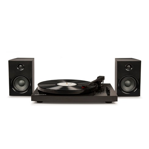Crosley T100 Turntable System - Black - image 1 of 4