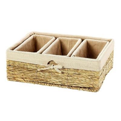 Nesting Storage Baskets, Wicker Basket (4 Piece Set)