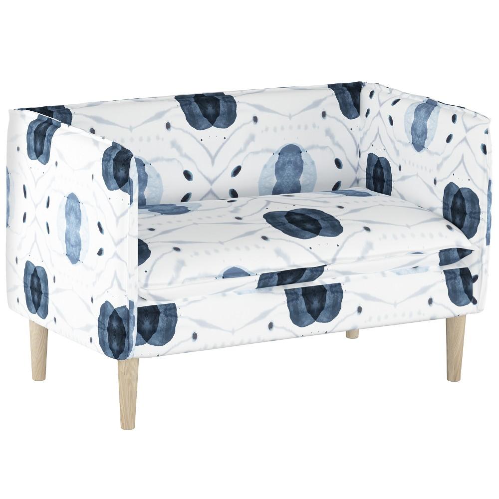 Louise French Seam Sette Blue/White Print - Cloth & Co.