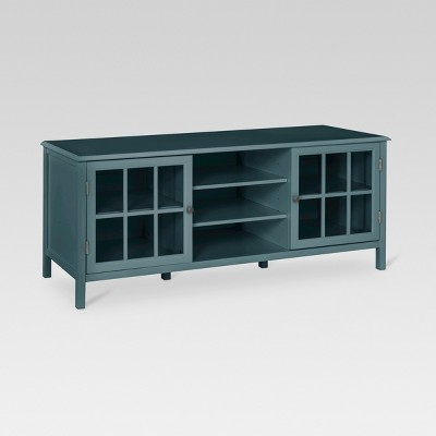 Gentil Windham Large TV Stand Blue/Overcast Gray   Threshold™