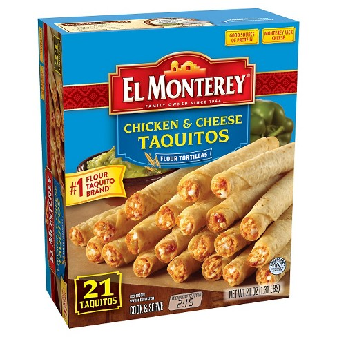 El Monterey Frozen Chicken and Cheese Taquitos - 21ct - image 1 of 1