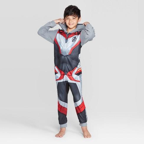 Marvel Avengers Boy Long Sleeve Blanket Sleeper Pajama Size 4//5