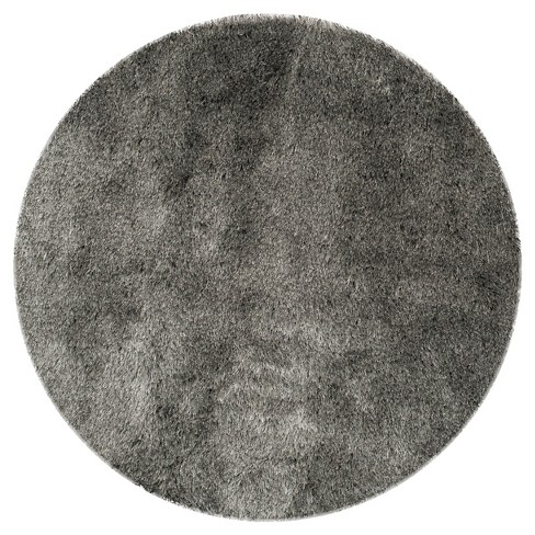 Silver Solid Loomed Round Area Rug - (9' Round) - Safavieh® - image 1 of 3