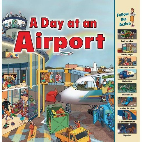 A Day at an Airport - (Time Goes by) by  Sarah Harrison (Paperback) - image 1 of 1