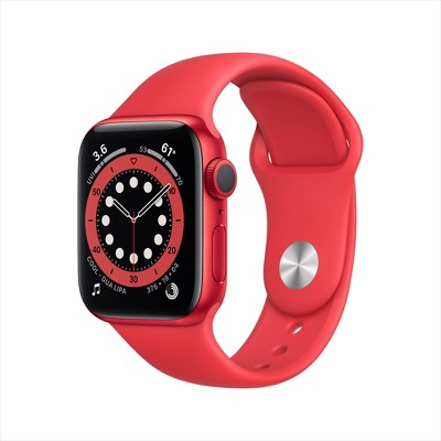 Apple Watch Series 6 GPS, 40mm PRODUCT(RED)Aluminum Case with PRODUCT(RED)Sport Band