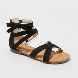 0d954c3ecbe1 ... Sport Memory Foam Slide Sandals - C9 Champion®. Girls  Rayna Microsuede  Gladiator Sandals - Cat   Jack™ Black