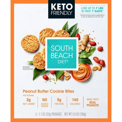 South Beach Diet Keto Peanut Butter Cookie Bites Case - 20ct - image 1 of 3