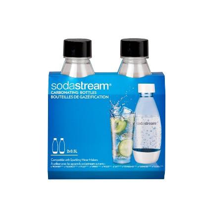 SodaStream Twinpack 0.5L Slim Carbonating Bottles – Black