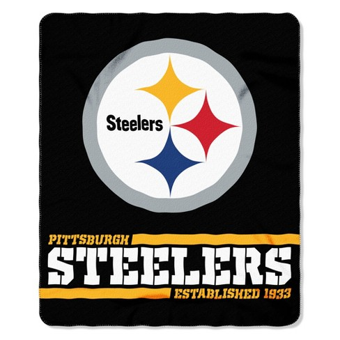 The Northwest Company Pittsburgh Steelers Fleece Throw Black Target