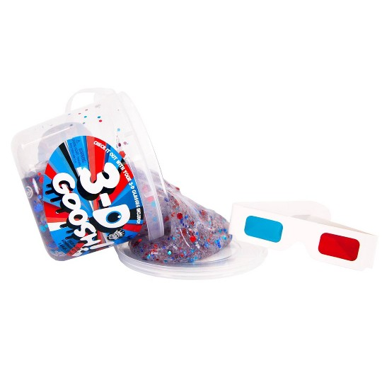 Compound Kings 3D Goosh Slime Bucket Red & Blue with Glasses image number null