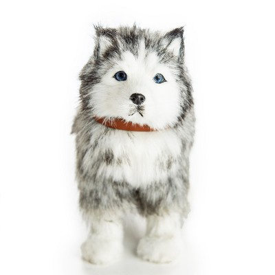 The Queen's Treasures 18 In  Doll  Husky Puppy Dog with Leash and Collar