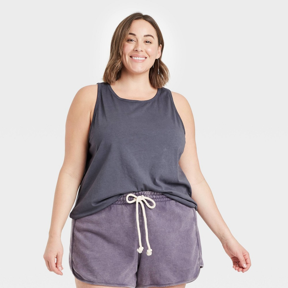 Women 39 S Plus Size Tank Top Universal Thread 8482 Dark Gray 1x
