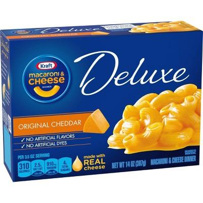 Kraft Macaroni & Cheese Deluxe Original Cheddar - 14oz
