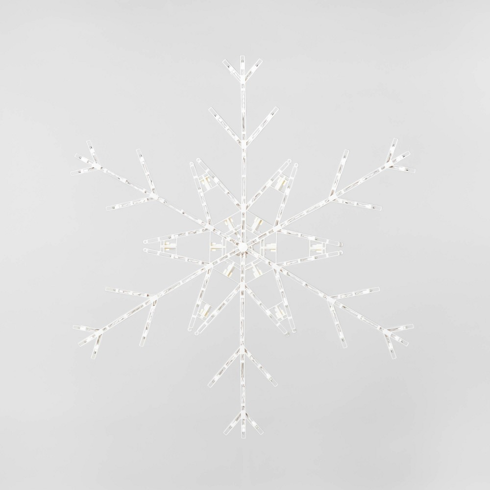 Image of 3.5ft Christmas LED Snowflake Novelty Silhouette Lights Cool White Twinkle - Wondershop