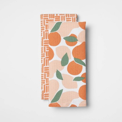 2pk Cotton Abstract Fruit Kitchen Towels - Room Essentials™