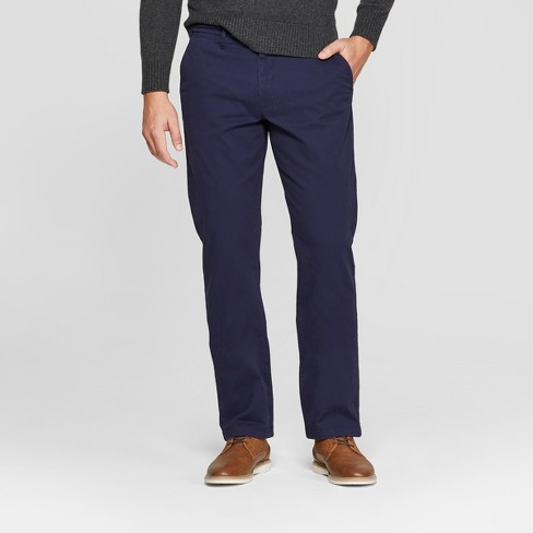 Men's Straight Fit Hennepin Chino Pants - Goodfellow & Co™ Navy - image 1 of 3